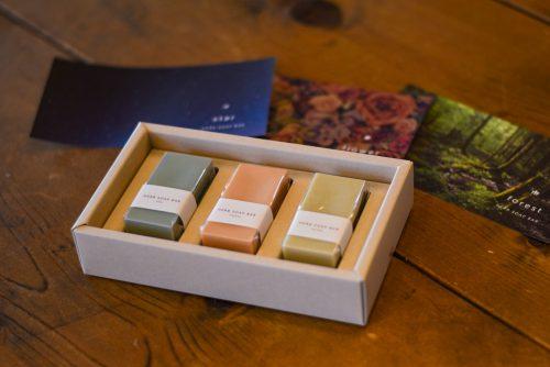 3 種の香りの石けん「ハーブソープバー」のご紹介